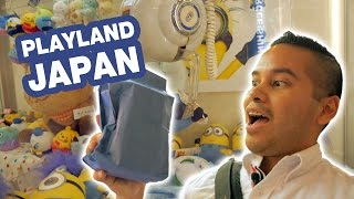 Epic rotating UFO catchers and Ping Pong Dropper battle at Playland Japan!
