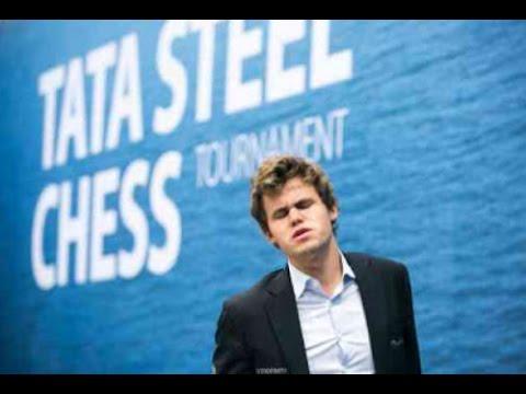 Carlsen neverovatni previd mat u tri poteza na Tata Steel takmičenju 2017god. CARLSEN vs GIRI # 985A