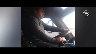 Chofer de bus interurbano fue captado quedándose dormido al volante - CHV Noticias