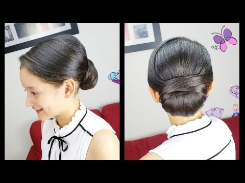 Low Chignon Hair Tutorial No Extra Pieces Wedding Hairstyles Prom
