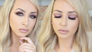 Drugstore/Affordable NEW YEARS EVE MAKEUP TUTORIAL PINK GLITTER LINER | DramaticMAC
