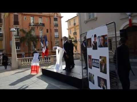 Minute de silence à Beausoleil pour les 12 tués à Charlie Hebdo