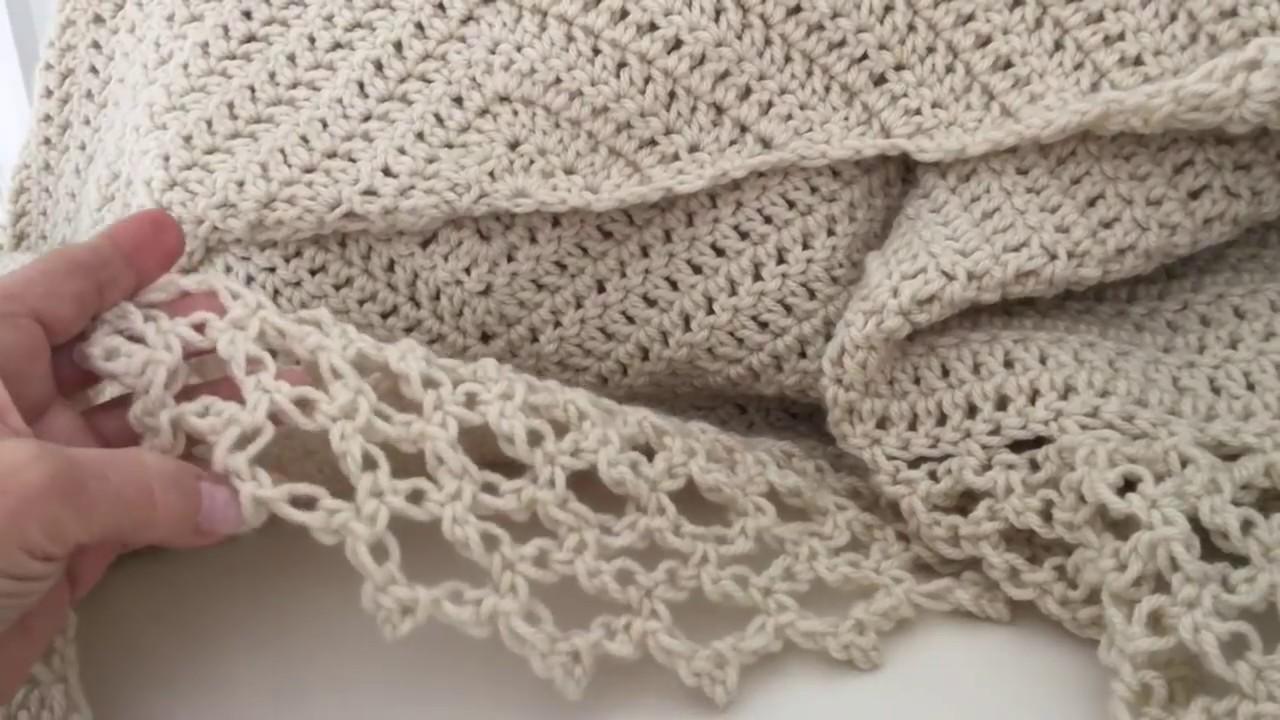 Chal en Triangulo en Punto Alto y Punto Salomon Crochet (FACIL ...