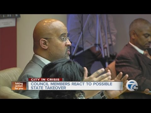 Detroit City Council members react to possible state takeover