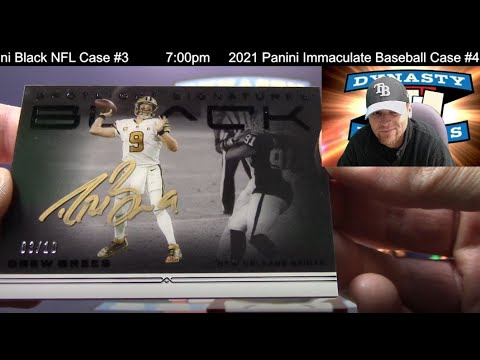 2021 Panini Black Football Card 12 Box Case Break #3   Sports Cards