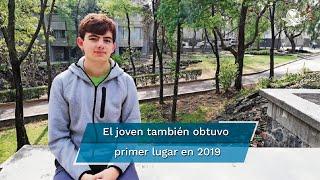 La presea fue obtenida por el estudiante mexicano Tomás Cantú Rodríguez; el canciller Marcelo Ebrard felicitó por medio de sus redes sociales al estudiante, así como a los ganadores de cuatro medallas de bronce y mención honorífica para México