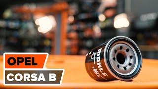 Montering af Oliefilter OPEL CORSA B (73_, 78_, 79_): gratis video