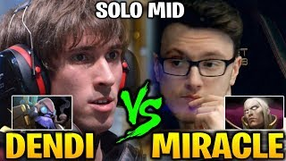 MIRACLE INVOKER vs DENDI TINKER: NonStop Battle At Middle Lane