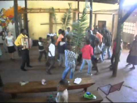 Mozambique, Maforga Christian Mission, Pentacost Sunday Praise