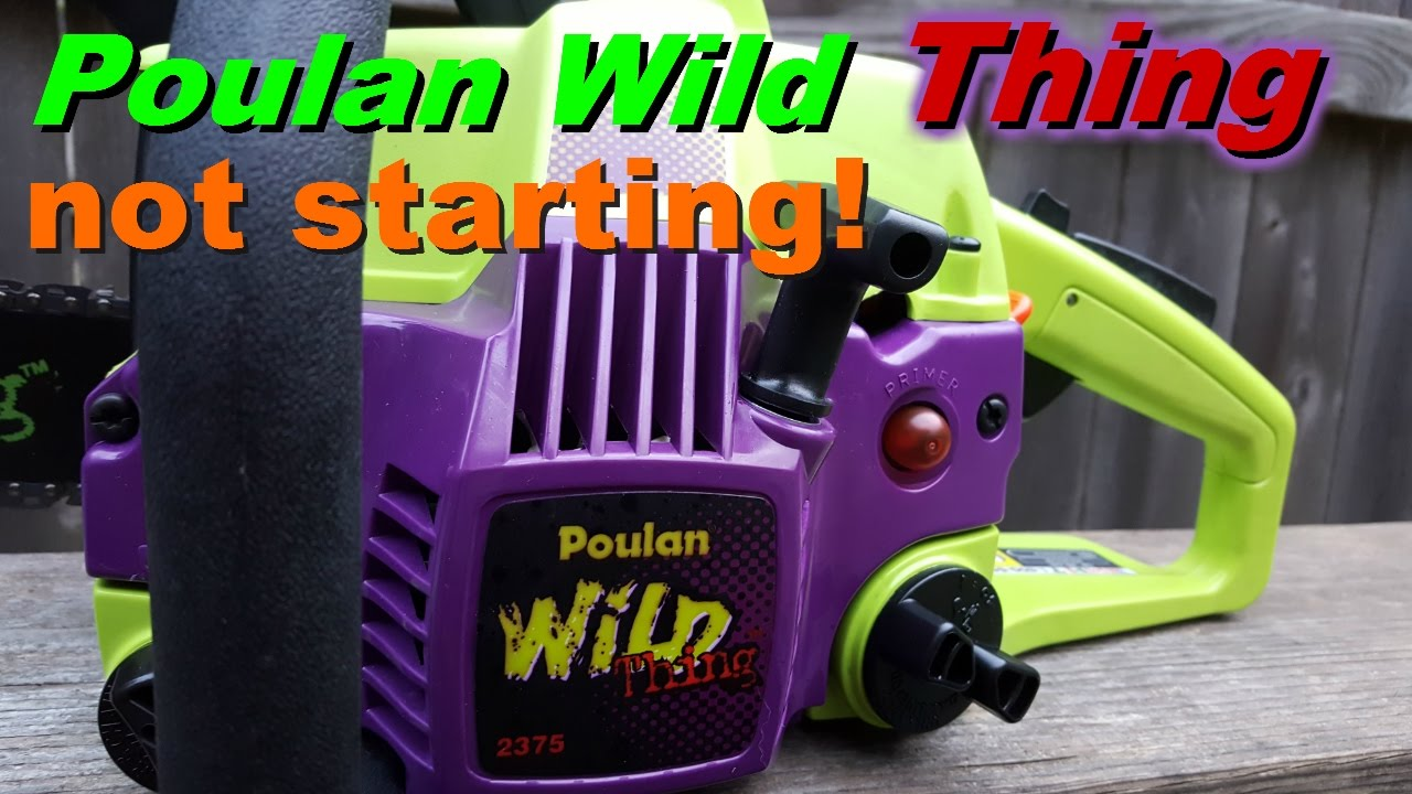 Poulan Wild Thing Chainsaw Fix  Fuel Line Repair