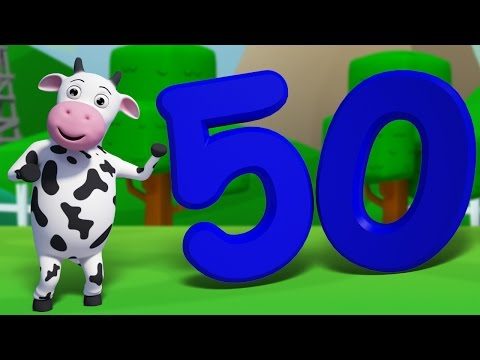 Numbers Song 1 to 50 | Learn Counting Numbers | 3D Nursery Rhymes For Kids | 123 Song
