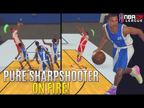 NBA 2K League Combine: Caught FIRE With a PURE SHARP! Heavily Contested Greens!