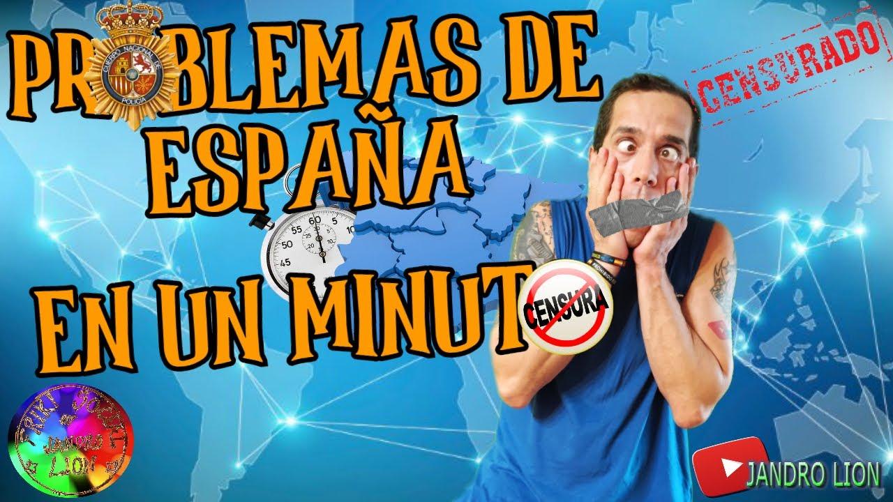 """Problemas de España en 1 minuto. Hoy:""""Soy Policía, por lo tanto: NO PUEDO HABLAR"""". Jandro Lion"""