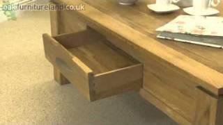 Galway Solid Oak Large 2 Drawer Coffee Table From Oak Furniture Land