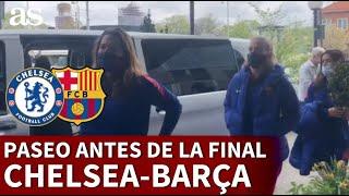 El paseo del Barcelona horas antes de la final de Champions contra el Chelsea | Diario AS