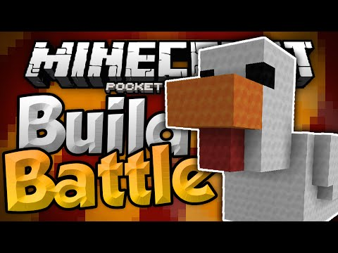 FUNKY CHICKENS!!! - MCPE Build Battles - Build Wars Minigame - Minecraft PE (Pocket Edition)