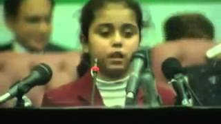 Best urdu speech by 8 year old girl infront of Nawaz and shahbaz sarrif