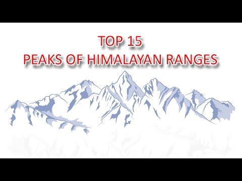Top 15 peaks of himalaya