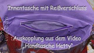 #66 - Innentasche mit Reißverschluss nähen / inner pocket with zipper