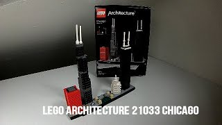 LEGO Architecture 21033 Chicago - Lego Speed Build Review