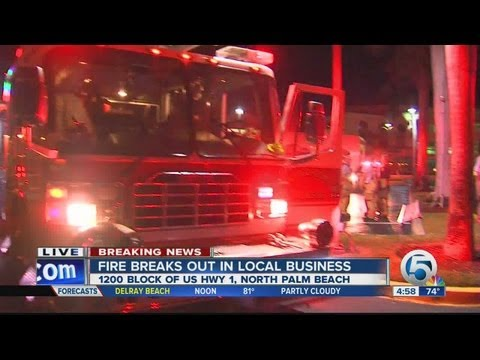 Fire breaks out at North Palm Beach antique shop