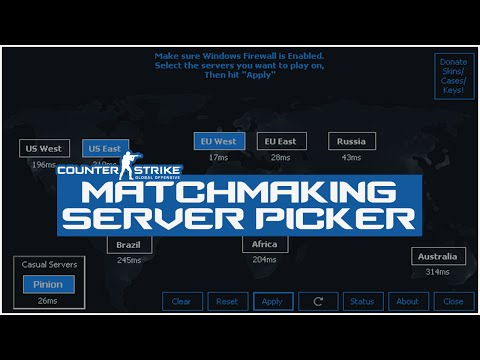 Настройка Matchmaking Server Picker