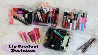 Makeup Declutter 2015: Lip Products