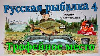 Русская рыбалка 4 Сазан Трофейное место