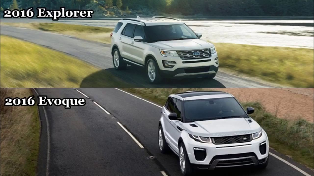 2016 ford explorer vs 2016 range rover evoque driving. Black Bedroom Furniture Sets. Home Design Ideas