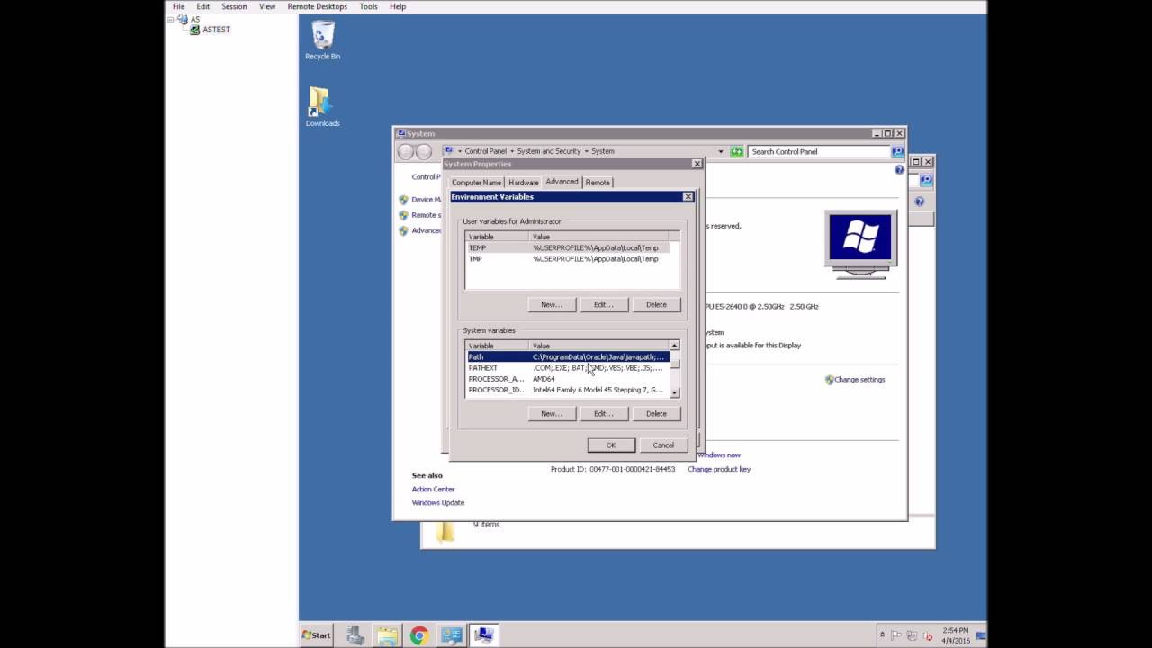 How to install ArchivesSpace on a Windows server, running