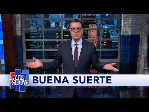 Stephen Colbert, Trevor Noah compare Trump's awkward Hispanic outreach in New Mexico, Warren's NYC rally