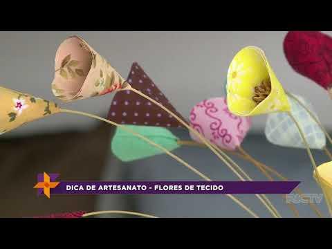 Artesanato: aprenda a fazer flores de tecido