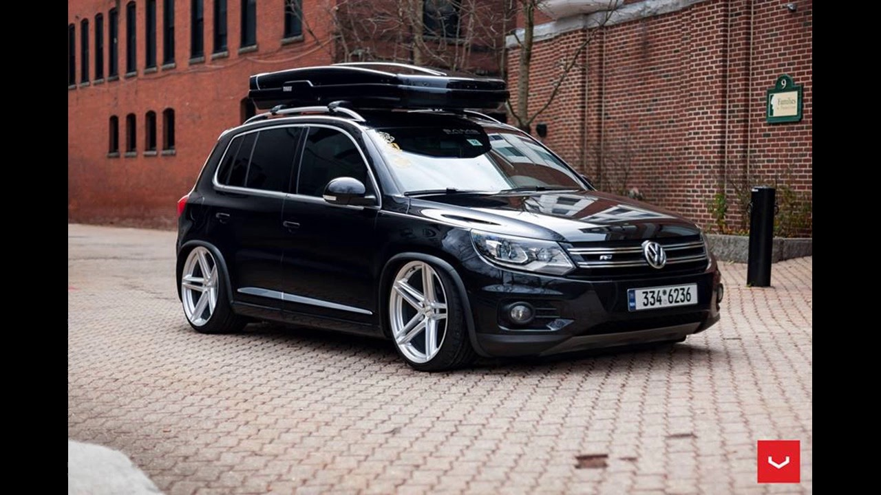 Dia Show Tuning Vossen Wheels VFS 5 Alufelgen am VW Tiguan mit Dachbox - YouTube