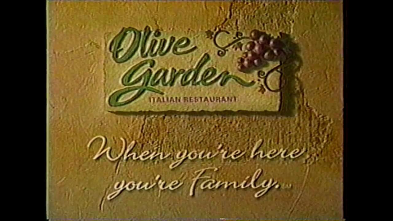 Olive Garden Commercial 1999 Youtube