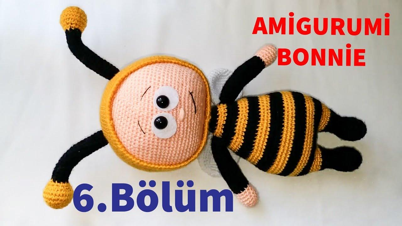 Amigurumi Bonnie 6 (Yüz, Anten & Kuyruk ) (Gül Hanım)