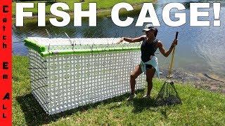 HOMEMADE MASSIVE DIY FISH CAGE! Saving my Monster Fish Pets from Hurricane Irma
