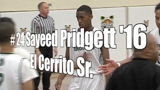 Sayeed Pridgett '16, El Cerrito Senior at 2015 UA Holiday Classic
