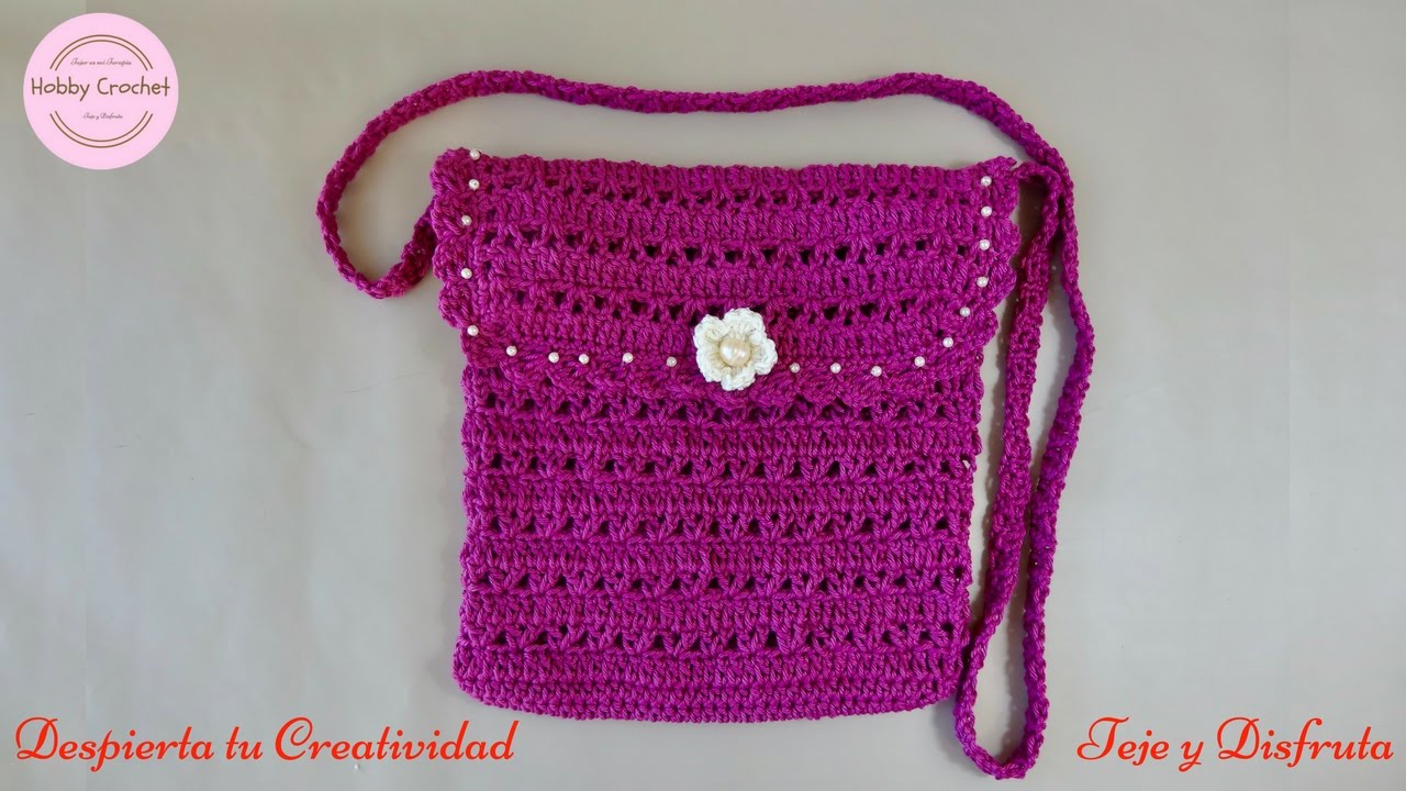 Bolso a Crochet paso a paso. - YouTube