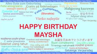 Maysha   Languages Idiomas - Happy Birthday