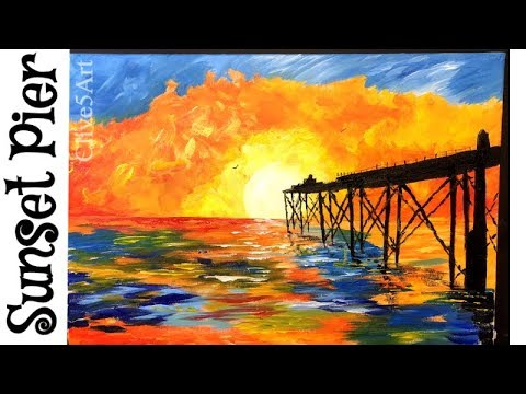 How to Paint a  Sunset | Acrylic Painting for beginners,