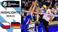 Czech Republic vs. Germany - Highlights   CEV Men's Tokyo Volleyball Qualification 2020