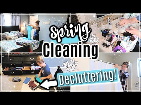 CLEAN & DECLUTTER WITH ME SPRING 2019 | EXTREME CLEANING MOTIVATION | CLEANING MY HOUSE