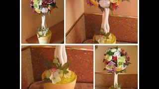 Топиарий мастер класс. Топиарий своими руками из роз, рунункуса и орхидей