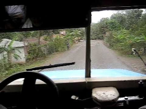 Riding the bus on the rough with a crazy driver between Port-au-Prince and Cap Haitian
