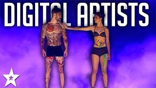 AMAZING Animations! Oskar & Gaspar Digital Artists On America's Got Talent | Got Talent Global