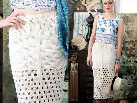 12 Long Skirt Vogue Knitting Crochet 2012 Youtube