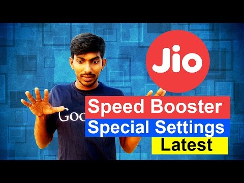 Increase JIO Internet Speed Very Fast Latest (Special Settings) - Tamil Techguruji