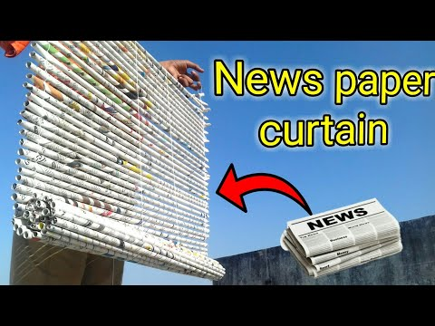 How To Make News Paper Curtains , How To Make Window Curtain , Newspaper Best Out Of Waste