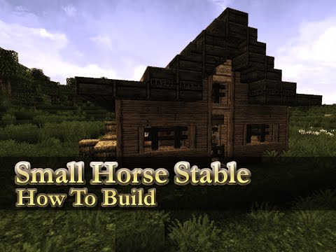 Minecraft how to build small horse stable youtube for How to build horse barn