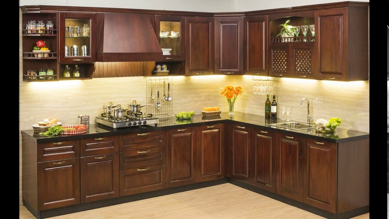 Modular kitchen design india 2015 youtube for Best material for kitchen cabinets in india